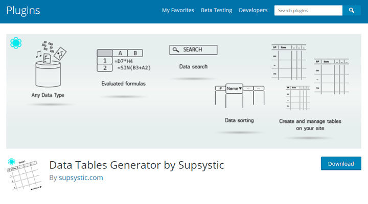 data-table-generator