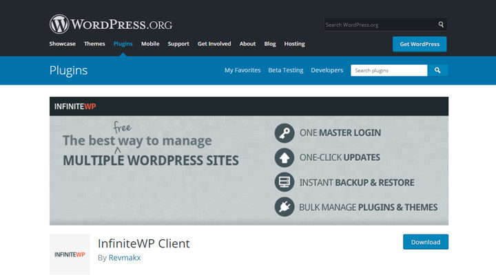 InfiniteWP-Client